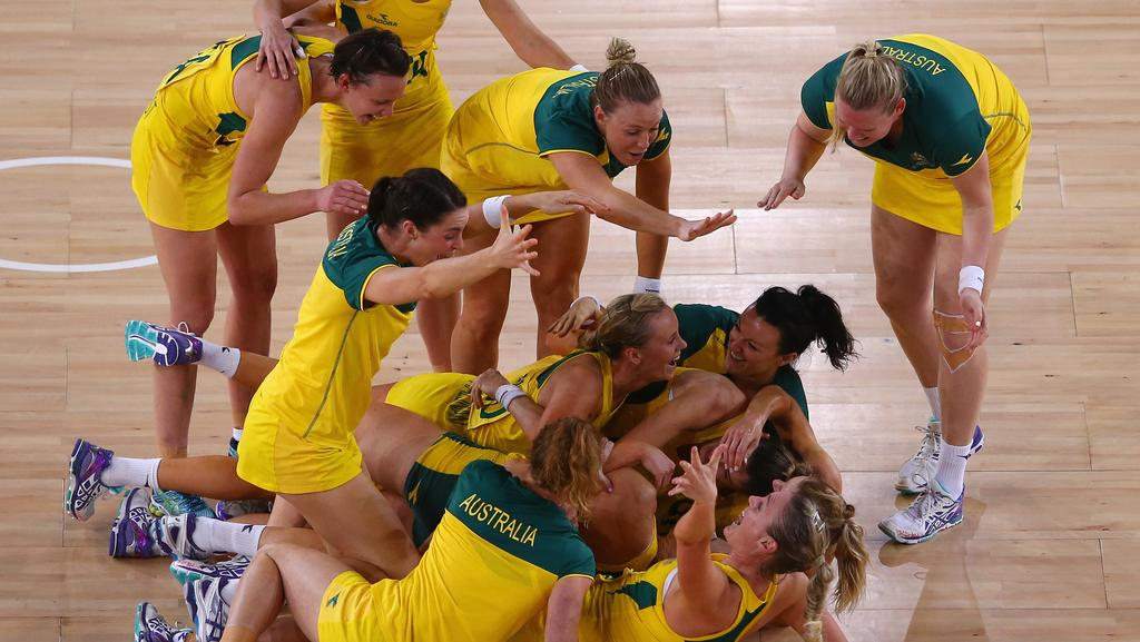 Australia celebrate victory at the 2014 Commonwealth Games in Glasgow.