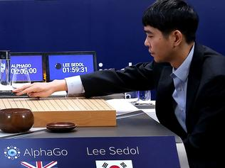 "(FILES) This file handout photo provided by Google DeepMind on March 12, 2016 shows Lee Se-Dol making a move against Google-developed supercomputer AlphaGo in Seoul. It's man vs machine this week as Google's artificial intelligence programme AlphaGo faces the world's top-ranked Go player in a contest expected to end in another victory for rapid advances in AI. China's 19-year-old Ke Jie is given little chance in the three-game series beginning May 23, 2017 in the eastern Chinese city of Wuzhen after AlphaGo stunned observers last year by trouncing South Korean grandmaster Lee Se-Dol four games to one. / AFP PHOTO / GOOGLE DEEPMIND / Handout / RESTRICTED TO EDITORIAL USE - MANDATORY CREDIT ""AFP PHOTO / GOOGLE DEEPMIND"" - NO MARKETING NO ADVERTISING CAMPAIGNS - DISTRIBUTED AS A SERVICE TO CLIENTS - NO ARCHIVES TO GO WITH Science-computers-AI-research-China-game-GO, ADVANCER by Dan Martin"