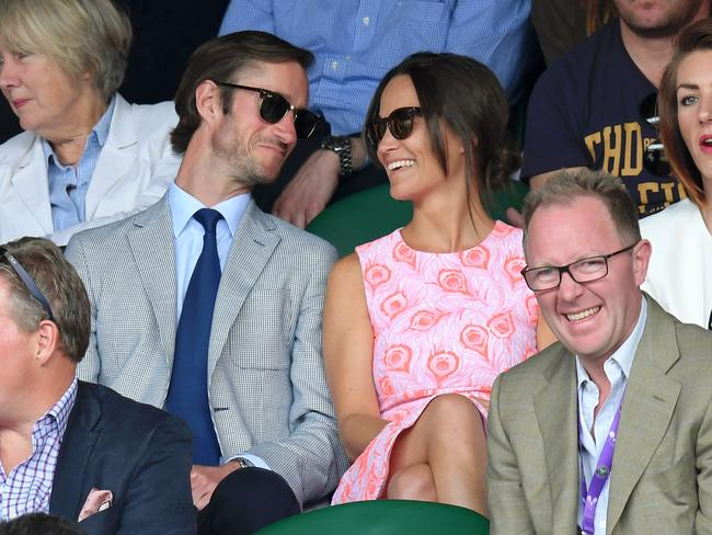Pippa Middleton and James Matthews at Wimbledon last year. Picture: WireImage.