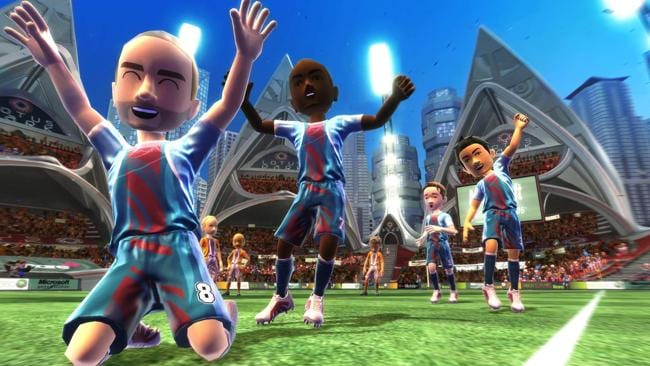 Get the whole family moving with a game of football in Kinect Sports.