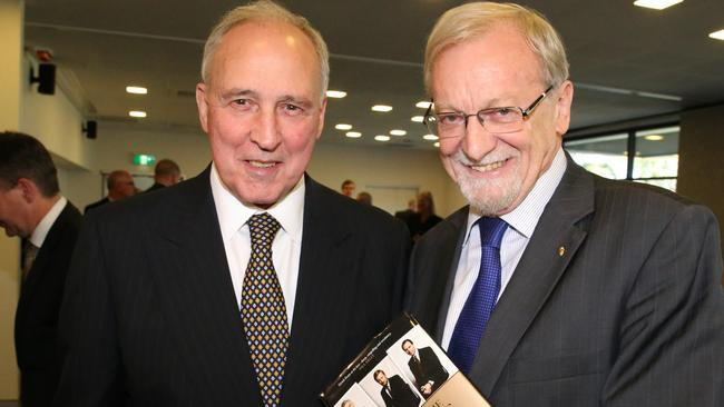 "Former PM Paul Keating painted a graphic picture about working with Bob Hawke at the launch of ""Inside the Hawke Keating Government"" by former Labor foreign affairs minister Gareth Evans."