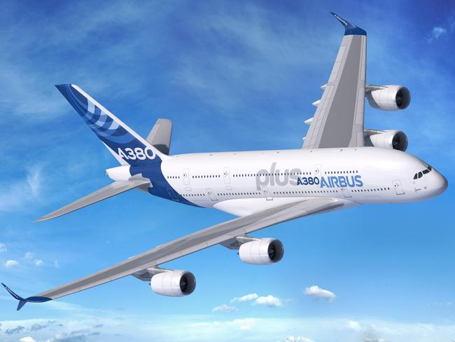 The A380plus could be a new favourite for planespotters with its giant winglets. Picture: Airbus
