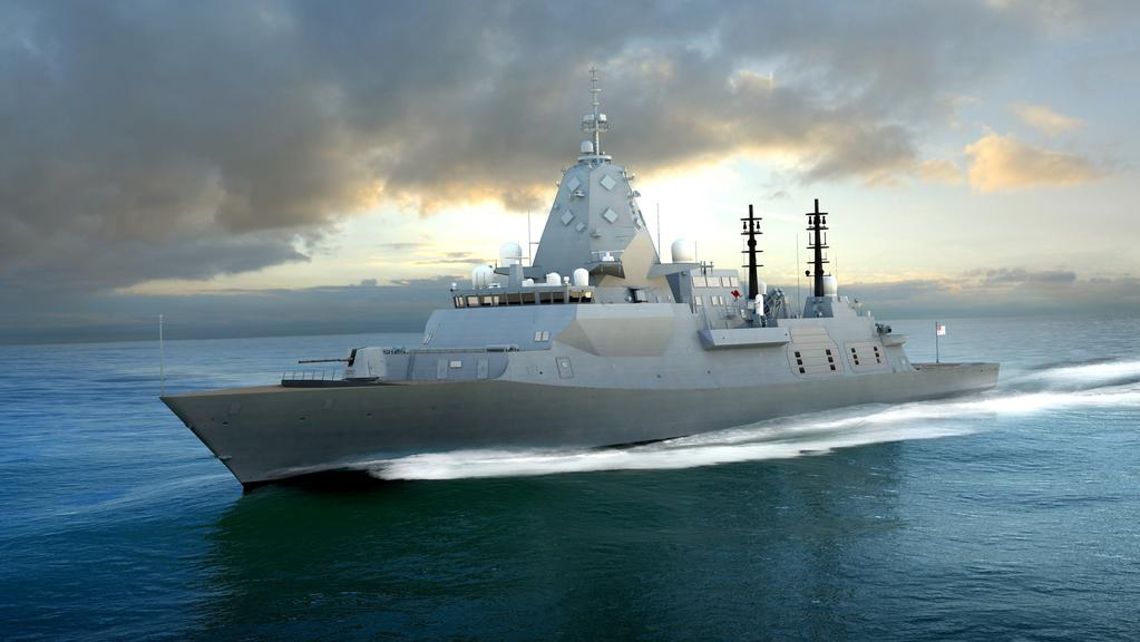 THE FUTURE: A concept image of BAE System's Type 26 Global Combat Ship that it hopes will win it the contract to build nine frigates.