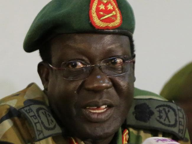 Chief of Staff of South Sudan's army, General James Hoth Mai. Picture: James Akena/Reuters