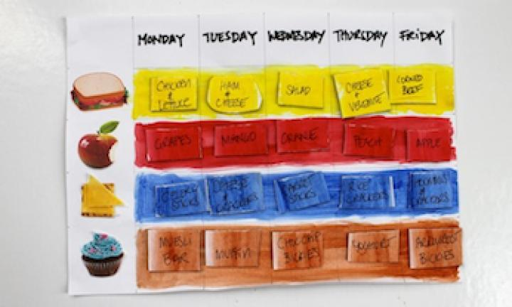 Make a magnetic lunch chart