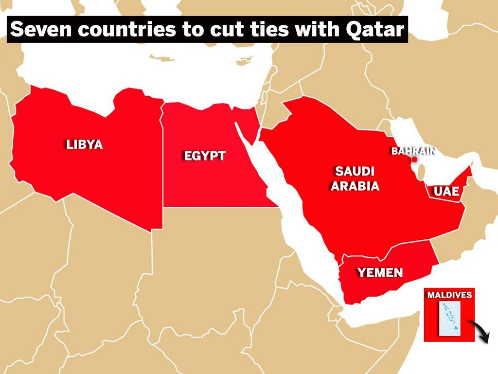 What Does The Qatar Split With Its Arab Neighbours Mean - Map of qatar and egypt