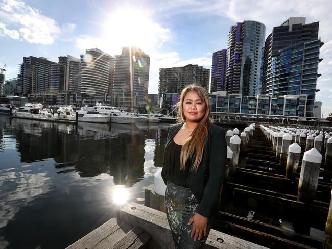 While there are now plenty of apartments in the Docklands, many sit empty, and are difficult to sell. A local real estate agent said half the apartments changing hands are selling at a loss. Picture: David Geraghty / The Australian.