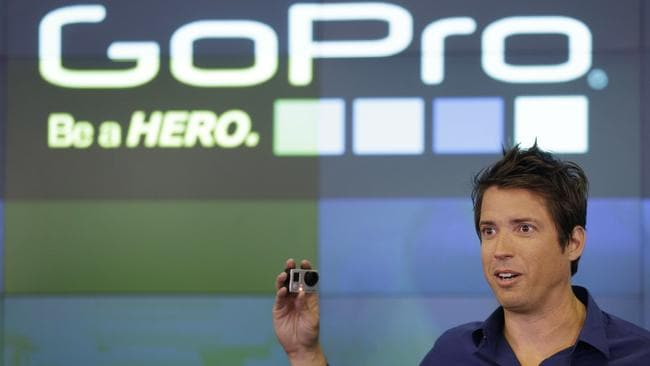 GoPro CEO Nick Woodman celebrating his company's IPO in 2014. Picture: Seth Wenig