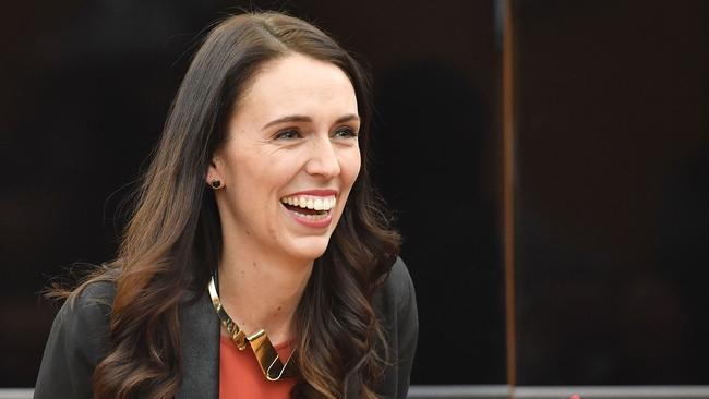 New Zealand's new Prime Minister Jacinda Ardern was more than happy to help out Webb with his query. Picture: Marty Melville/AFP