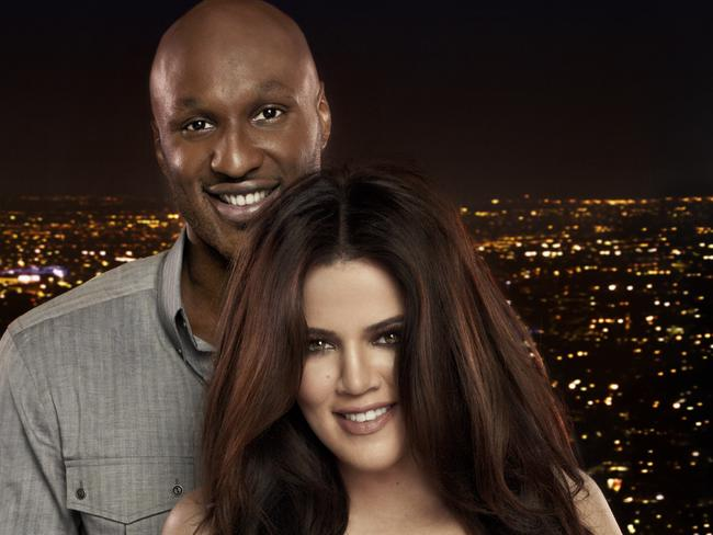 Khloe Kardashian and her then-husband Lamar Odom. Picture: Supplied
