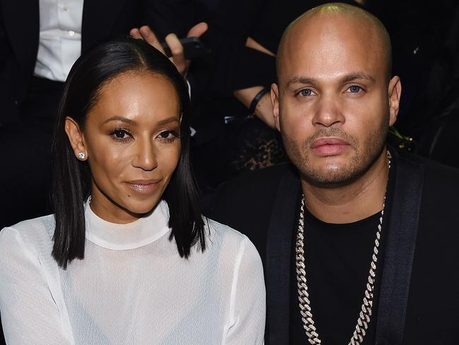 Mel B with her soon to be ex-husband Stephen Belafonte. Picture: Dimitrios Kambouris