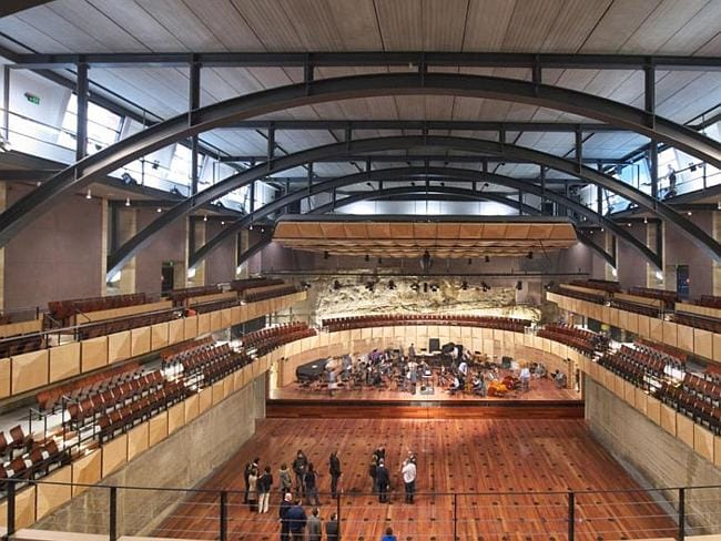 Private Schools new building works. Sydney Grammar recital hall. Picture: Supplied
