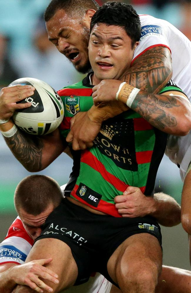 Issac Luke made a positive return to the Rabbitohs' line-up on Monday night.