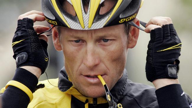 #Livewrong: Lance Armstrong denied allegations of cheating throughout his career, only to finally confess on live television. Picture: AP Photo/Marcio Jose Sanchez.
