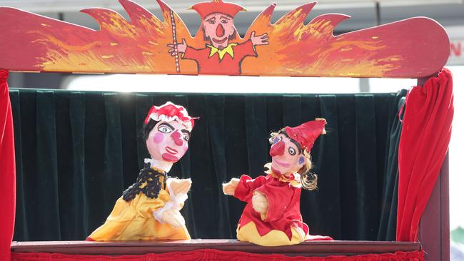 Punch and Judy is a traditional and usually incredibly violent puppet show.