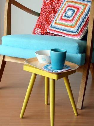 Handcrafted hipster homewares — just the thing to brighten up your retro furniture. Photo: Ilaria Chiaratti Bonomi via Houzz, see http://idalifestylephotography.wordpress.com or www.idainteriorlifestyle.com. Or visit the yarn shop www.idayarnshop.com.