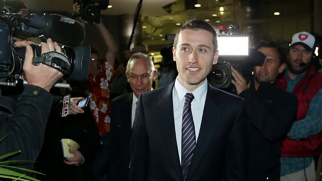 Controversial... Tom Waterhouse heads to today's hearing. Picture: Porteous Gregg