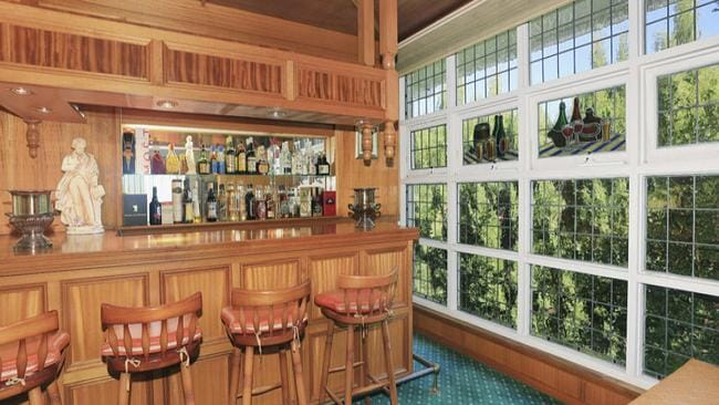 A bar is another feature of the single-level house in Oatlands.