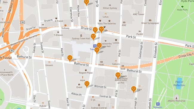 Women can pinpoint the spots where they feel unsafe around the city. Picture: Free to Be