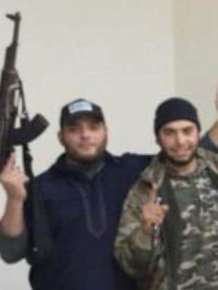 Australian Islamic State fighter Khaled Sharrouf (left). Picture: Mark Schliebs