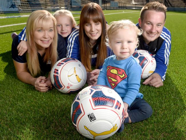 Jaxson Rocca, 15 months, and his family have benefited from the support of HeartKids. Picture: Naomi Jellicoe