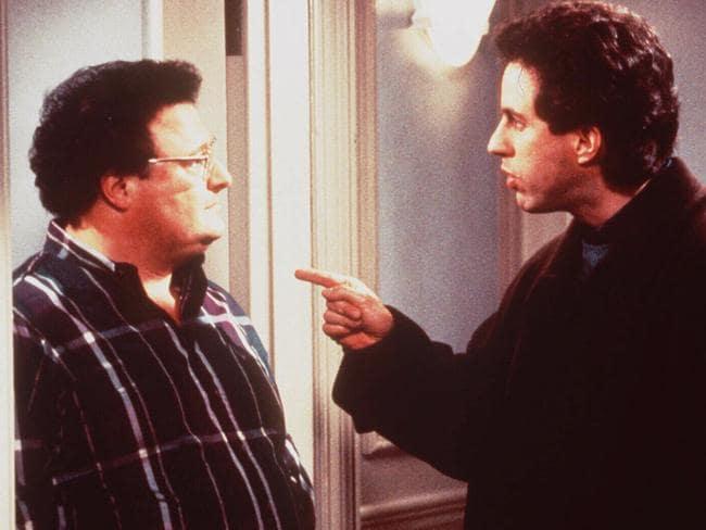 """Helloooo Newman."" Jerry Seinfeld with Wayne Knight."