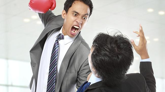 There are ways to deal with annoying colleagues without turning into the Hulk. Picture: ThinkStock.