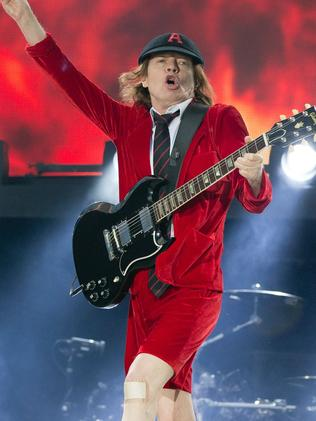 Angus Young, guitarist of Australian rock back AC/DC.