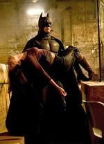 "<p>Actor Christian Bale in scene from film ""Batman Begins.""</p>"