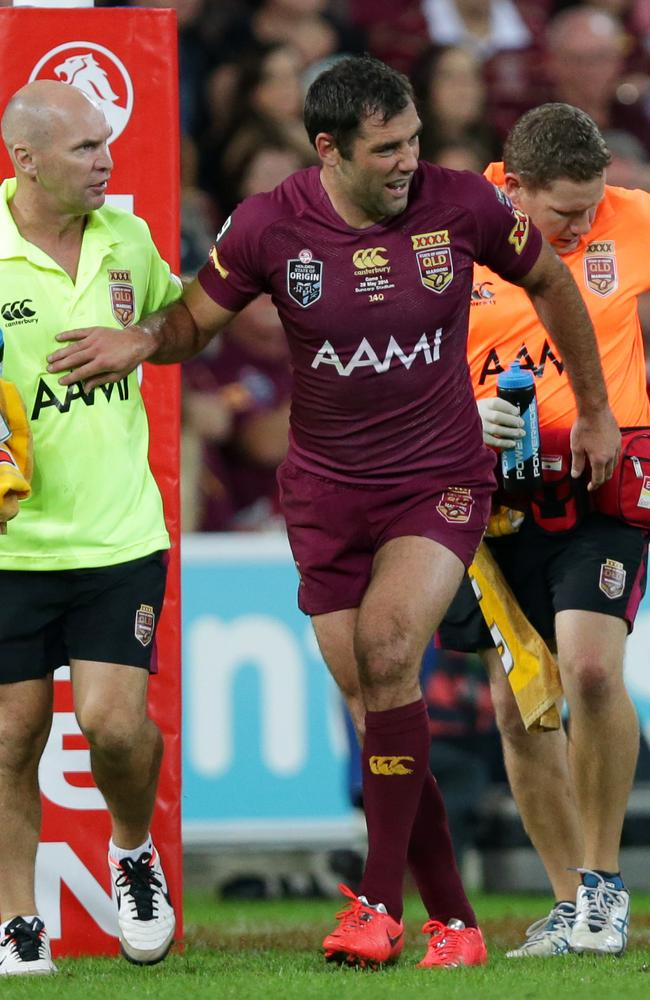Cameron Smith opted to carry on despite spraining his ankle.