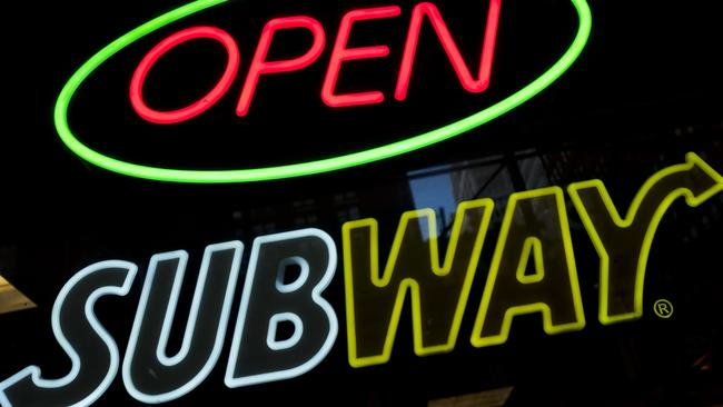 Subway was originally called Pete's Super Submarines. Picture: AP Photo/Mark Lennihan
