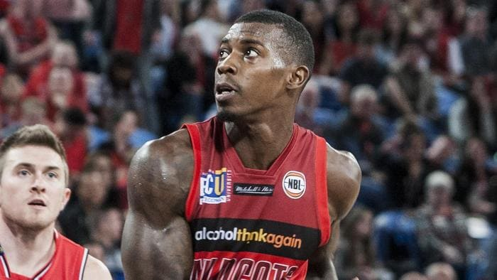 Casey Prather of the Perth Wildcats during the NBL League match between Wildcats and the Illawarra Hawks at the Arena in Perth, on Friday, Oct. 21, 2016. The Wildcats won 80-73. (AAP Image/Tony McDonough NO ARCHIVING, EDITORIAL USE ONLY