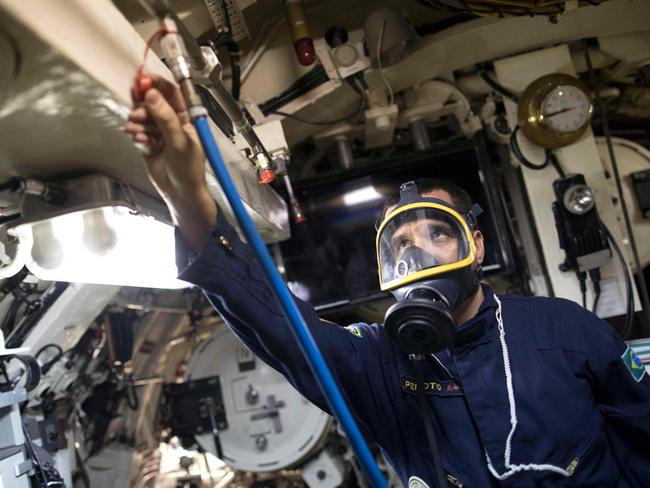 Submariners need to have excellent teamwork skills and strong sensory awareness, according to a world-leading rescue chief. Picture: AFP Photo/Leo Correa