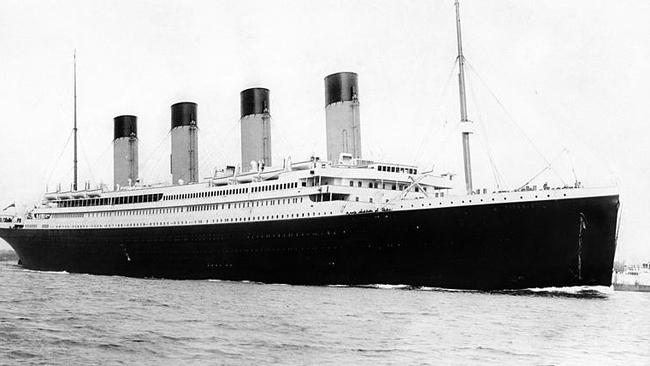 The Titanic cruise ship which sunk in 1912. Picture: F. G. O Stuart