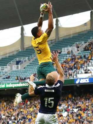 Israel Folau's try against Scotland on Saturday.
