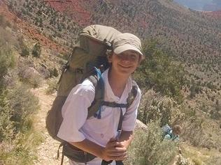 Lou-Ann Merrell, 62, and Jackson Standefer, 14, were hiking in the Grand Canyon when the pair lost their footing
