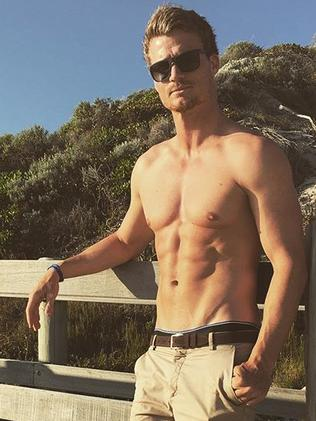 No matter where he is the top comes off. Picture: Richie Strahan / Instagram