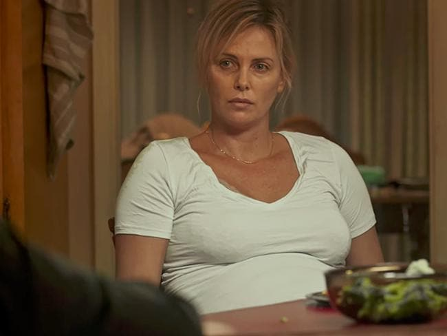 Charlize Theron in her new film, Tully