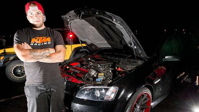 Toby Morris with his 600hp Commodore SS ute, fitted with an aftermarket supercharger, cams, exhaust and lots more.