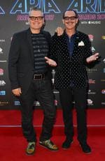 Tim Farriss and Kirk Pengilley of INXS arrive on the red carpet for the 31st Annual ARIA Awards 2017 at The Star on November 28, 2017 in Sydney, Australia. Picture: Getty