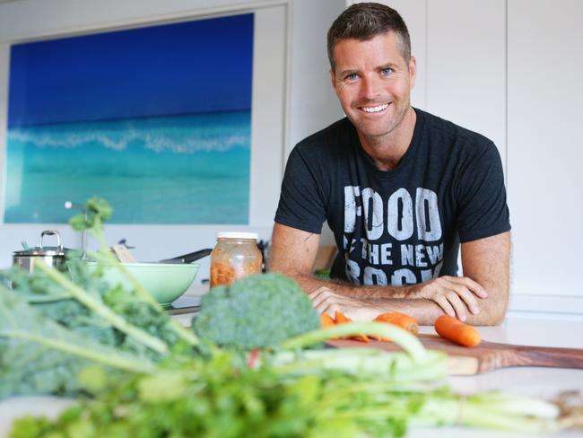 Advocate of the Paleo diet ... Pete Evans in his kitchen.