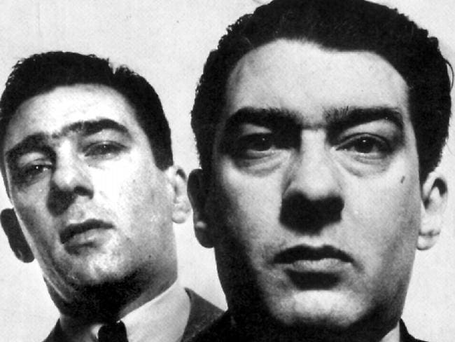 Mad, bad and dangerous to know ... Ronnie Kray (pictured right) was a crime boss in UK in the 1960s with brother Reggie (left).
