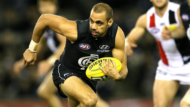 Chris Yarran has had his ups and downs this season. Picture: Wayne Ludbey