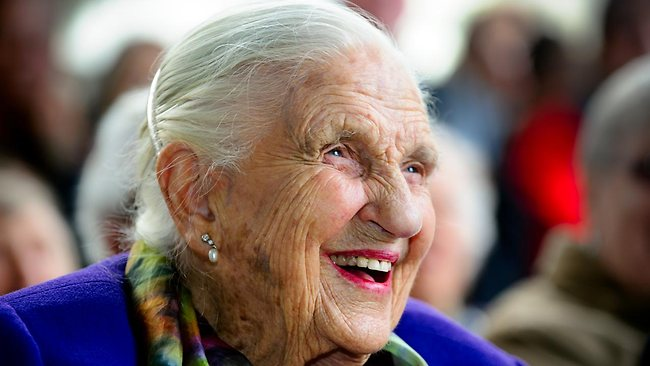 Philanthropist and arts patron Dame Elisabeth Murdoch, pictured when she turned 103 earlier this year. Picture: Jay Town