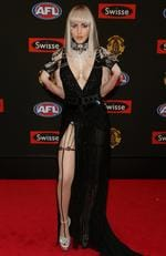 2014 - Gabi Grecko on the red carpet during the arrivals for the 2014 AFL Brownlow Medal at Crown Casino in Melbourne. Picture: Tim Carrafa