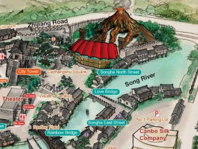 A look at the Hangzhou Songcheng Park map. Picture: Travel China Guide