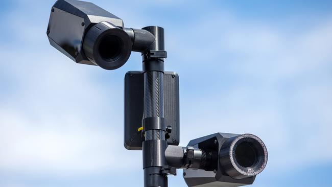 A hi-tech camera which can detect people using their mobile phones while driving was trialled in Melbourne last year. Picture: Mark Stewart.