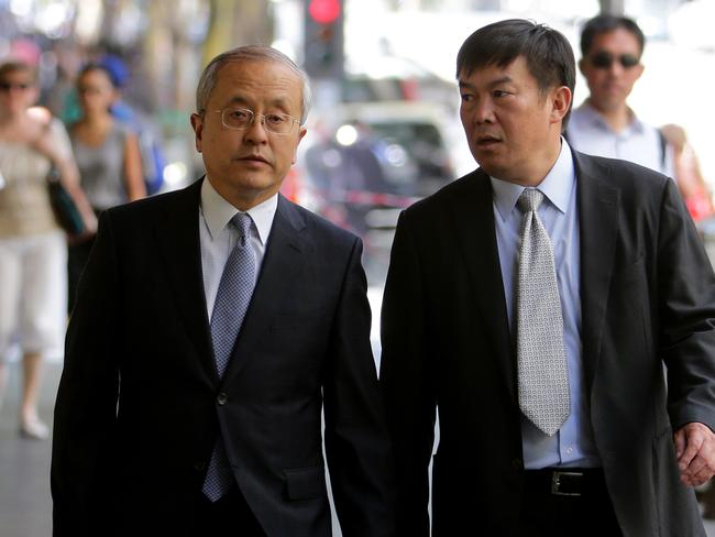 Zhang Jijing (left), president of Citic Pacific.