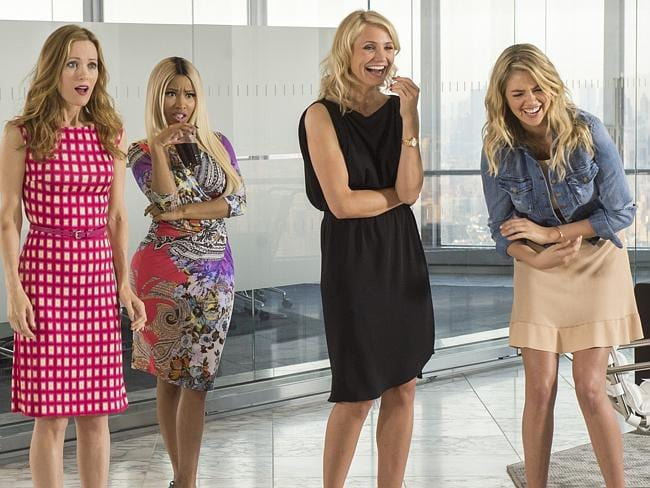 Gilrs just want to have fun ... Leslie Mann, Nicki Menaj, Cameron Diaz and Kate Upton in a scene from The Other Woman.