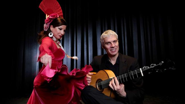 Flamenco pair — dancer Areti Boyaci and guitarist Werner Neumann.